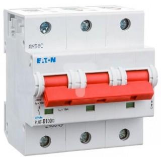 Автоматический выключатель трехполюсный трехфазный PLHT 3P 80А Eaton