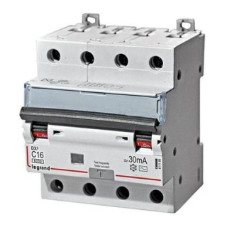 Диффиринциальный автомат DX3 4P С 16A 30мА 6kА 4М Legrand