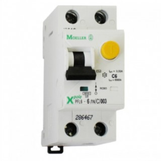 Дифференциальный автомат PFL6 1P+N 10А 30мА тип С 6кА EATON-(MOELLER)