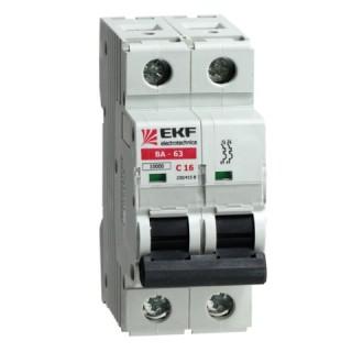Автоматический выключатель ВА 47-63 2P 6А (C) 4,5kA EKF PROxima