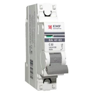 Автоматический выключатель ВА 47-63 1P 50А(С) 4,5кА EKF PROxima