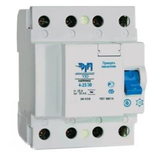 Устройство защитного отключения (УЗО) 4Р 16А 30мА (электр) 4,5кА