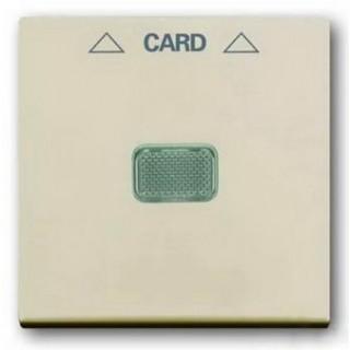 Лицевая панель для выключателя с ключом-карточкой механизм ABB basic 2025U (сл.кость)