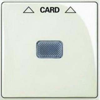 Лицевая панель для выключателя с ключом-карточкой механизм ABB basic 2025U (шале-белый)