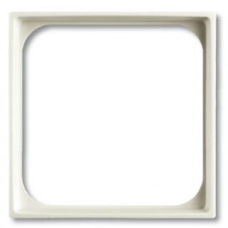 Лицевая панель для телекоммуникационных механизмов с накладкой 50х50 ABB basic (белый)