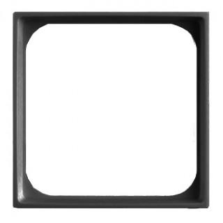Лицевая панель для телекоммуникационных механизмов с накладкой 50х50 ABB basic (шато-черный)
