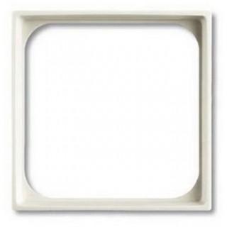 Лицевая панель для телекоммуникационных механизмов с накладкой 50х50 ABB basic (шале-белый)