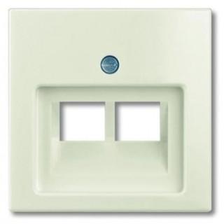 Лицевая панель для двойной информационной розетки ABB basic (шале-белый)