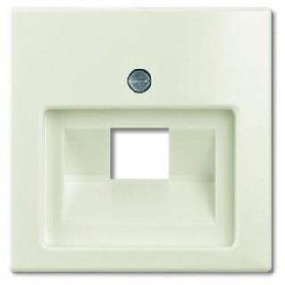Лицевая панель для одинарной информационной розетки ABB basic (шале-белый)