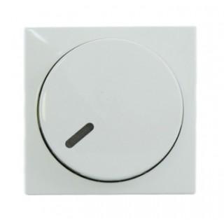 Лицевая панель с поворотной ручкой и подсветокой для светорегуляторов ABB basic (белый)