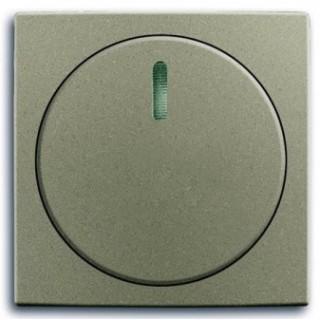 Лицевая панель с поворотной ручкой и подсветокой для светорегуляторов ABB basic (шампань)