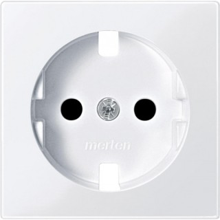 Лицевая панель с защитными шторками для розеток 20 M-500 ABB basic (белый)
