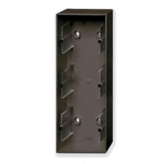 Коробка для накладного монтажа 3 поста ABB Basic шато-черный