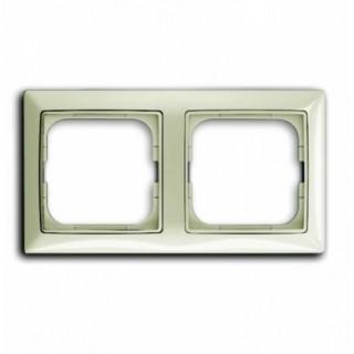 Рамка на 2 поста ABB basic 55 (шале-белый)
