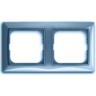 Рамка на 2 поста ABB basic 55 (синий)