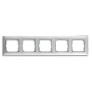 Рамка на 5 постов ABB basic 55 (альпийский белый)