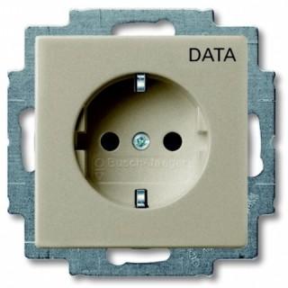Розетка 2P+E нем. стд. ABB Basic 55 с маркировкой DATA (сл.кость)