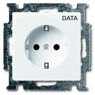 Розетка 2P+E нем. стд.с маркировкой DATA (альпийский белый)