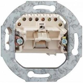 Розетка телефонная ABB basic 55 1хRJ-11, 4 контакта