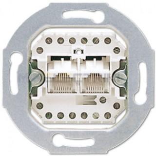 Розетка телефонная ABB basic 55 2хRJ-11, 4 контакта