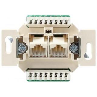 Розетка компьютерная ABB basic 2хRJ-45 UTP CAT5E 8 контактов