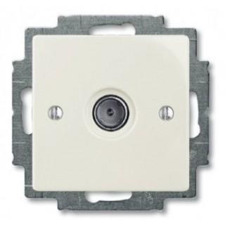 Розетка TV простая ABB basic 2400MHz (шале-белый)