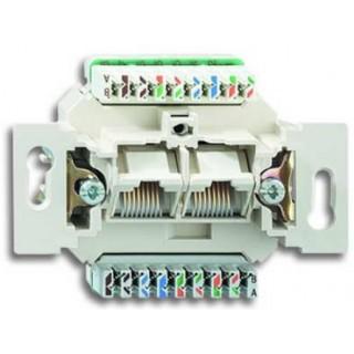 Розетка комбинированная ABB basic 2хRJ-45 UTP CAT6