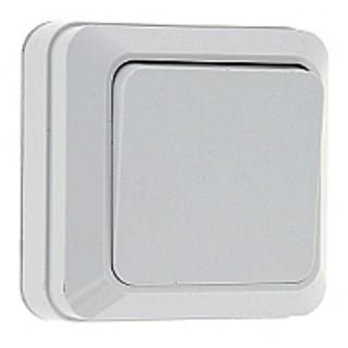 Выключатель 1-клавишный наружной установки EKF Рим 10 А белый