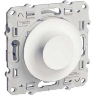 Диммер поворотно-нажимной Schneider Odace 40-600 Вт белый