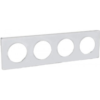 Рамка Schneider Odace четырехместная белая