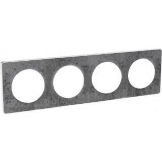 Рамка Schneider Odace четырехместная черный фосфор/белый