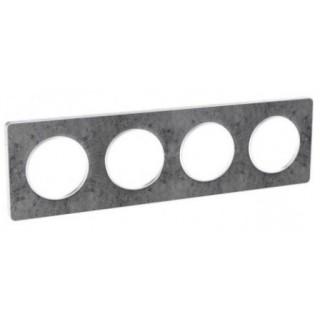 Рамка Schneider Odace четырехместная морской камень/белый