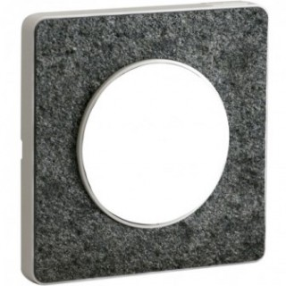 Рамка Schneider Odace одноместная черный фосфор/белый