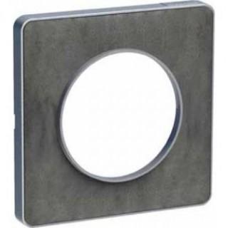 Рамка Schneider Odace одноместная сланец/алюминий