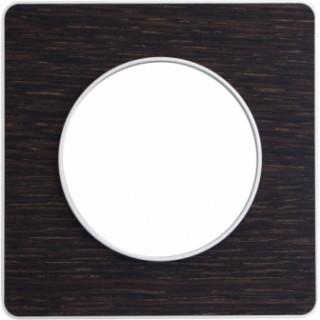 Рамка Schneider Odace одноместная венге/алюминий