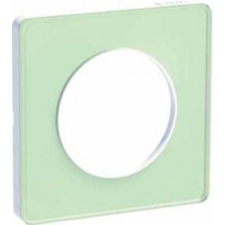 Рамка Schneider Odace одноместная зеленый лед/белый