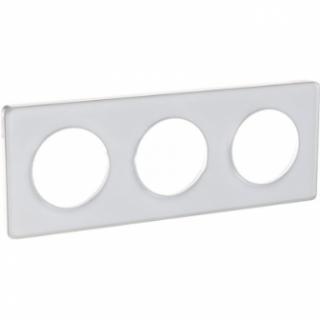 Рамка Schneider Odace трехместная прозрачный/белый