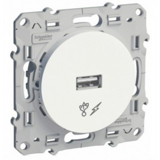 USB розетка Schneider Odace белая