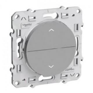 Выключатель для жалюзи Schneider Odace с фиксацией 16 А, 250, В, алюминий