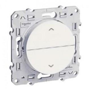 Выключатель для жалюзи Schneider Odace с фиксацией 16 А, 250 В, белый