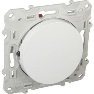 Выключатель Schneider Odace одноклавишный 16 А, 250 В, пружинный зажим, белый