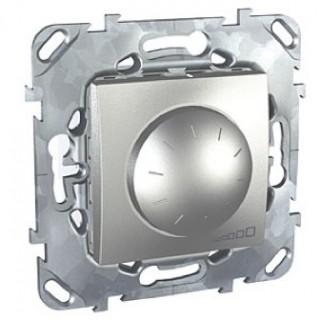 Диммер Schneider Unica поворотный 40-1000w алюминий
