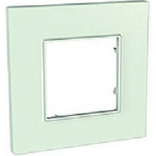 Рамка 1 место Schneider Unica Quadro матовое стекло