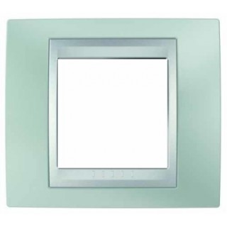 Рамка 1 место Schneider Unica металл Флюорит/зеленый алюминий
