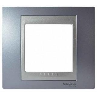 Рамка 1 место Schneider Unica металл Бериллий