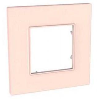 Рамка 1 место Schneider Unica Quadro розовый жемчуг