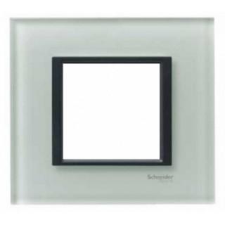 Рамка 1 место Schneider Unica Class серебристый алюминий