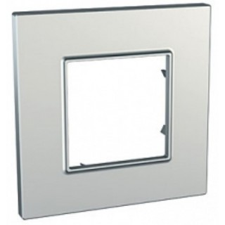 Рамка 1 место Schneider Unica Quadro серебро