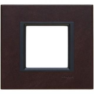Рамка 1 место Schneider Unica Class темная кожа