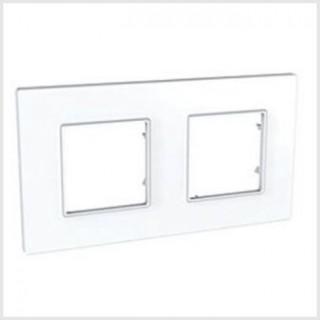 Рамка 2 места Schneider Unica Quadro белый